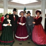 The Fireside Carolers greeted everyone in the lobby.