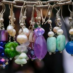 Colorful stone and silver jewellery earrings pendants