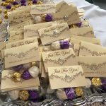Just for you! Bagged truffles for guests.