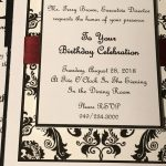 Birthday Invitations that are sent out 2 weeks before the big day.