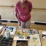 Mrs. Flath is a very good painter and loves to teach as well.