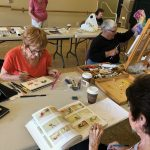 A few residents painting and enjoying the Artists Palette.