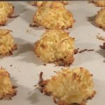 These coconut macaroons are perfect. A beautiful golden brown and just perfect.