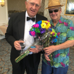 Our two commentators for the Men's Fashion Show Fundraiser on the longest Day raised money for WFK and Alzheimer's as well.
