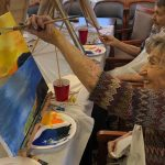 So happy to be painting with friends!