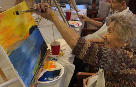 Paintings Inspired by Beautiful Sunset Over the Water